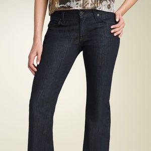 7FAMK Flynt Bootcut Stretch Jeans in Dark Blue